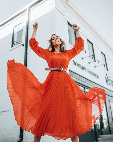 Orange Dress for Summer | Colors to wear for spring and Summer