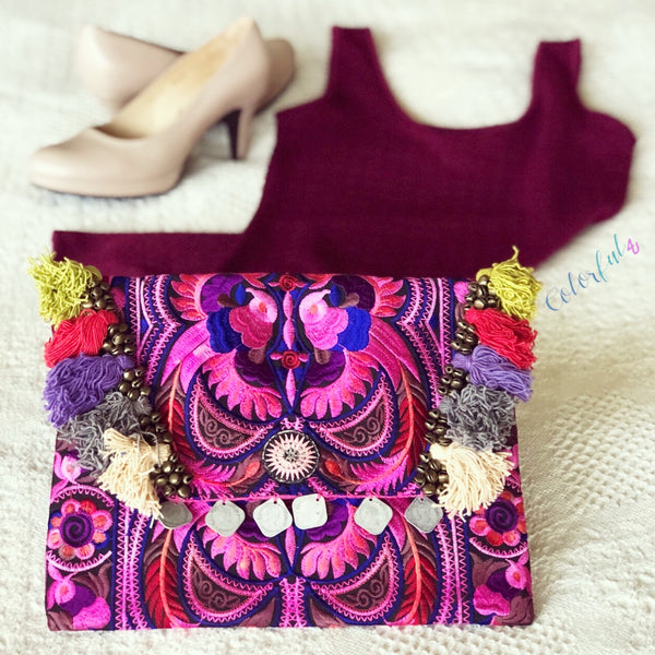 Colorful Clutch Bag | Add color to your wardrobe
