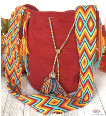 Colorful4u | Burgundy/Red Summer Bag | Crochet Bag