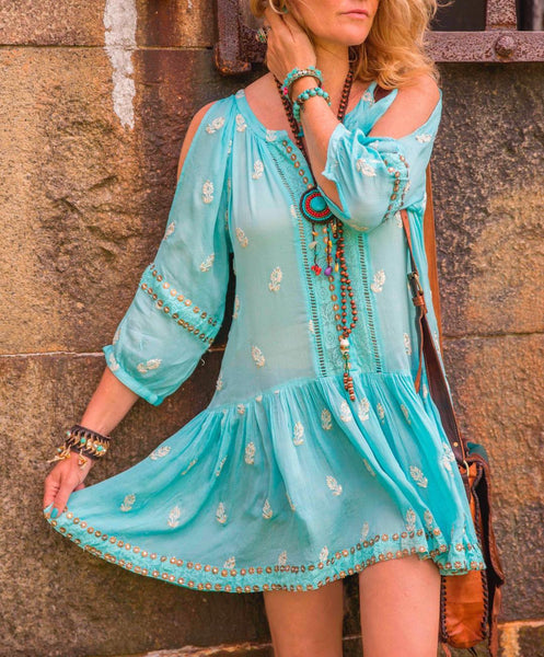 Aqua Summer dress for summer | Ibizabohogirl
