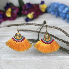 Yellow Tassels Earrings | Colorful 4U Spring Collection | Spring Colors