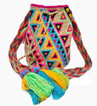 NEON COLORFUL 4U BEACH BAGS -WAYUU BAGS - CROCHET-FREE US SHIPPING
