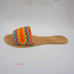 Colorful Handwoven Sandals - Flat Boho Sandals SWF002