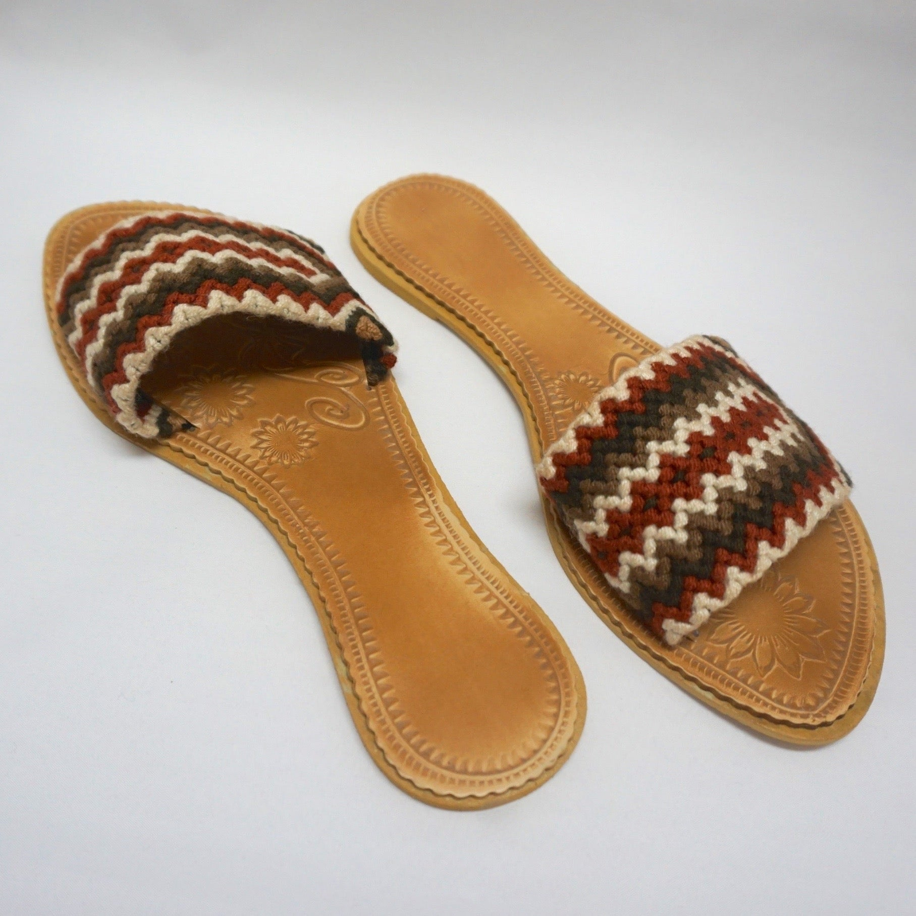 Colorful Handwoven Sandals - Boho Sandals - SWF008
