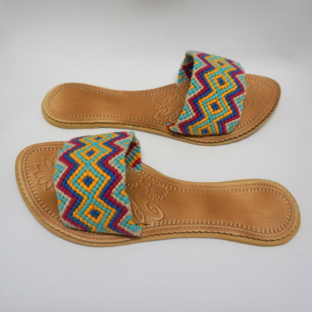Colorful Handwoven Sandals - Wayuu Slide Sandals