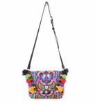 Colorful Embroidered TASSEL Handbag/Clutch - Boho-Chic Bag