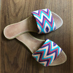 Lavender Dreams Handwoven Sandals - Boho Flat Sandals SWF027