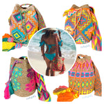 Colorful Beach Crochet Bags |  Crossbody Summer bags | Wayuu