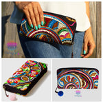 Colorful Embroidered Wallets /Clutches - Boho / Bohemian Style Wallets
