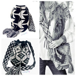 Black & White Crochet Bags  - Large