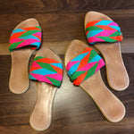 Colorful Handwoven Sandals - Boho Flat Sandals SWF022