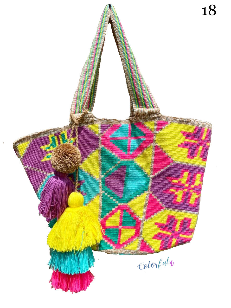 Yellow Tote Bag | Beach Bags | Beach Totes | Summer Bags