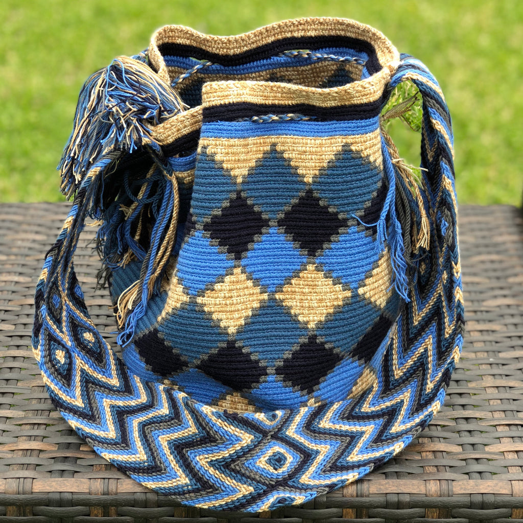 AZULA Crochet Bag - Crossbody Boho Bag - Beach Bag
