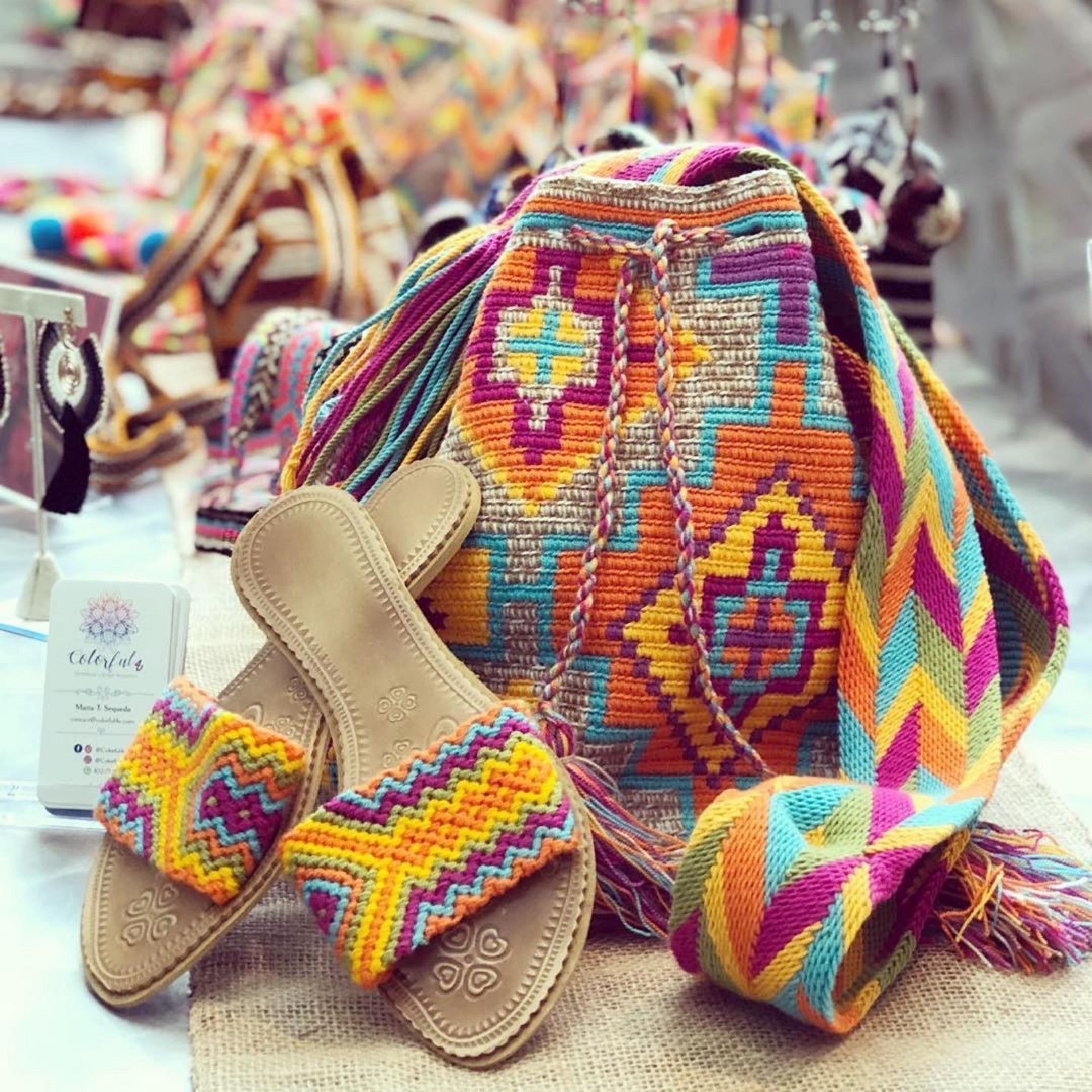 Caribbean Sunset Crochet Beach Bag