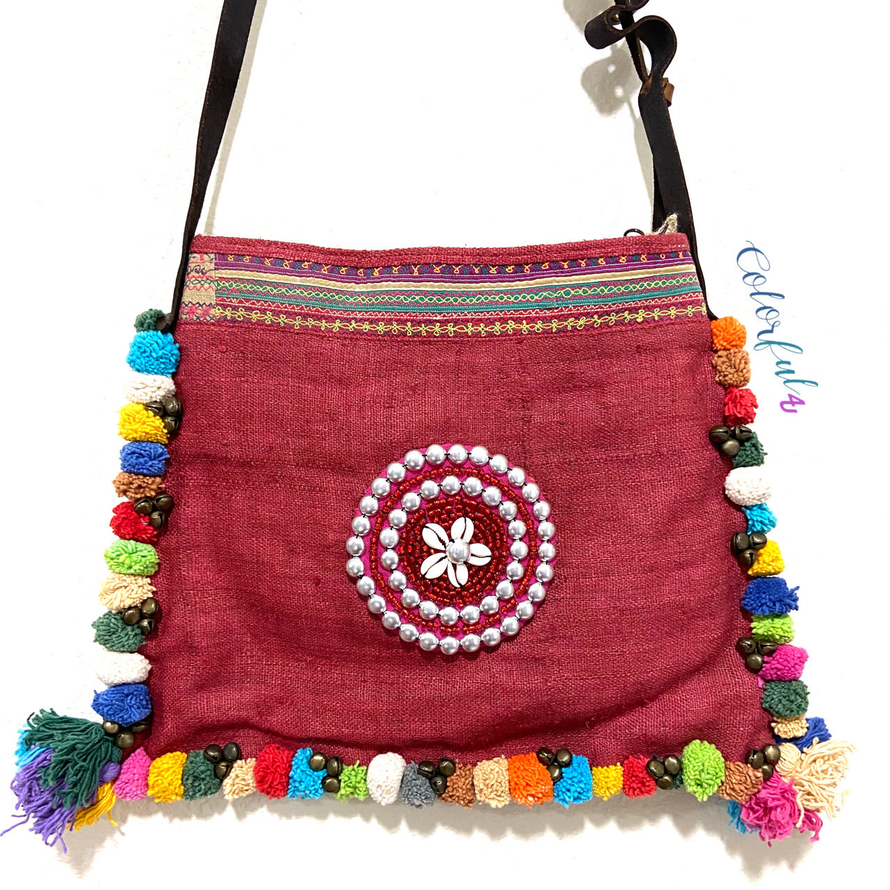 Bohemian Crossbody Bag with tassels