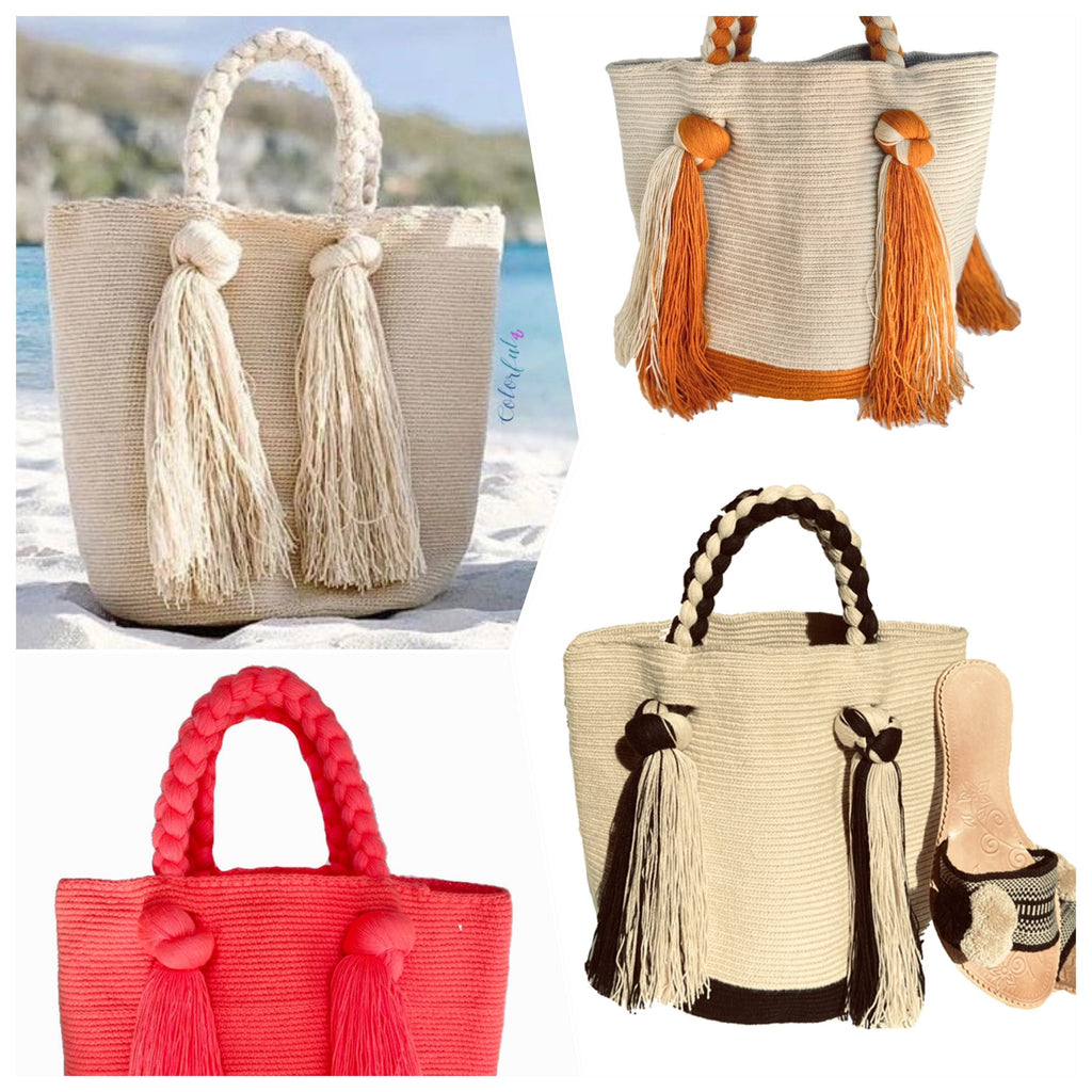 ENDLESS SUMMER Tote Bags | Long Tassels Beach Tote