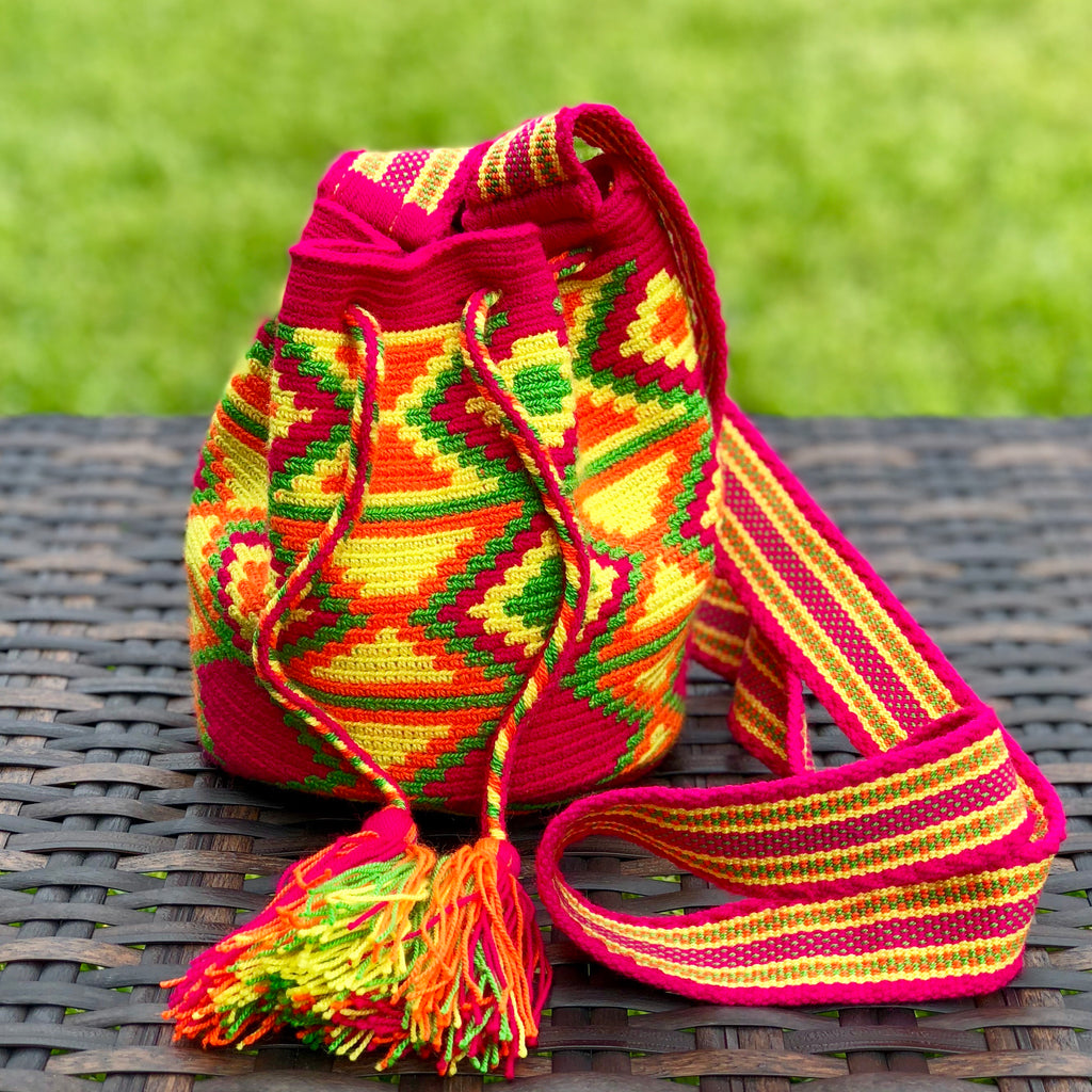 PREMIUM Mini Croche t Bag - Authentic One-thread Wayuu Bag -  Style MWPP15