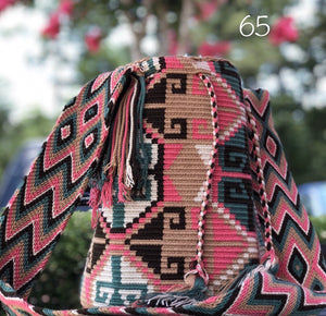 Colorful 4U | Desert Dreams Collection | Crossbody Boho Bags for Fall | Wayuu Mochila | Bohemian Bucket Bag 65back