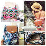 Crochet Travel Backpacks with Leather/PU
