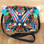 Colorful Embroidered Handbag - Boho-Chic Bag/Clutch - Style CEPC03S