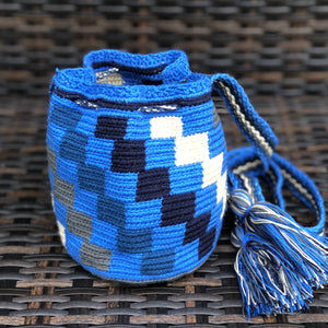 Colorful Mini Crochet Bag - Authentic Wayuu Mochilap Bag -  Style MWPD43