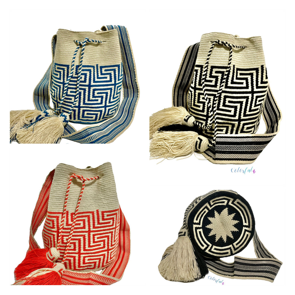 Aztec Patterns | Limited Edition Bags | Large Crochet Bags