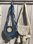Glitter Crochet Bags with Cover - Crossbody Boho Bag