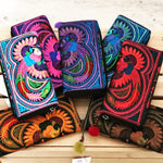 Colorful Embroidered Bohemian Wallet - Boho Chic Wallet/Clutch Bag