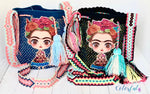 FRIDA Kahlo Bag - Colorful Crossbody Bucket Bag-Boho Wayuu Bag-Medium Bag
