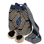 Special Edition Crochet Bag - Shades of Blue Crossbody Boho Bag -  Style MWDE15