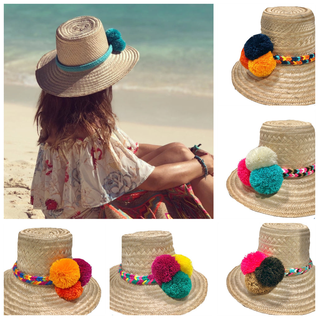 Boho Hat | Autthentic Wayuu Hat | Summer Hat | Natural Straw Hat