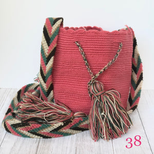 Rose Mini Crochet Bags-Small Wayuu Bags-Girls Summer Crossbody Bags
