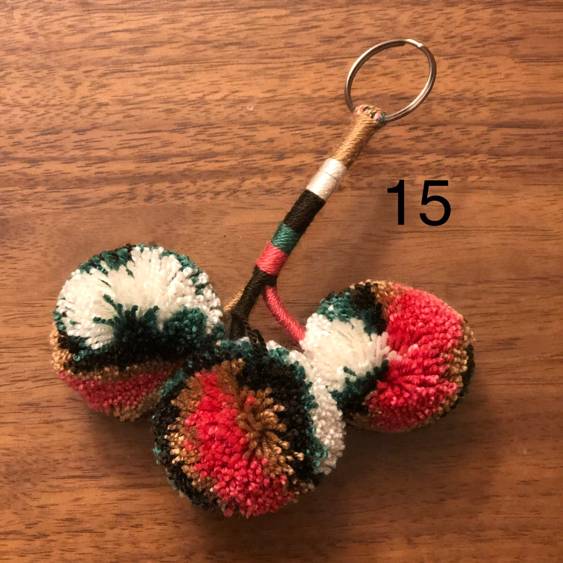 Colorful Pompom Keychain