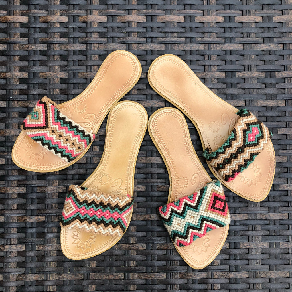 Desert Dreams  Handwoven Sandals - Boho Flat Sandals Style 018