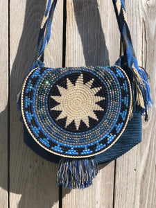 Crystal Crochet Bags with Cover - Crossbody Boho Bag