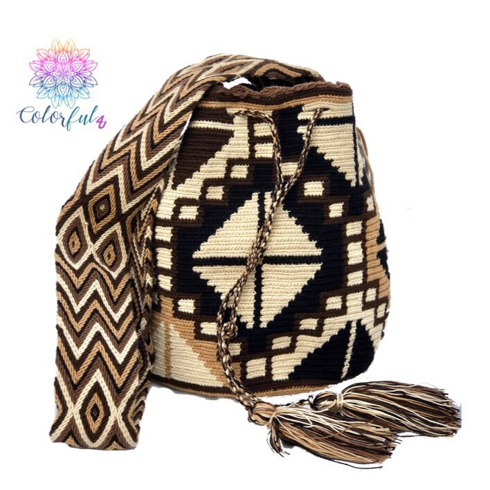 Colorful Crochet Bag - Crossbody Boho Bag - Style MWD046