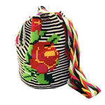 Colorful Crochet Bag Rose Design - Crossbody Boho Bag - Style MWD013