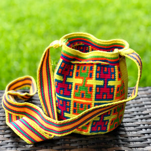 PREMIUM Mini Crochet Bag - Authentic One-thread Wayuu Bag -  Style MWPP12