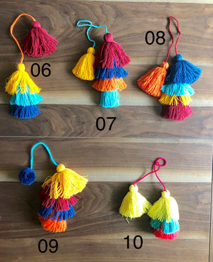 Colorful Tassel Bag Charms - Boho Pompom/Tassel Charms - Purse Charm