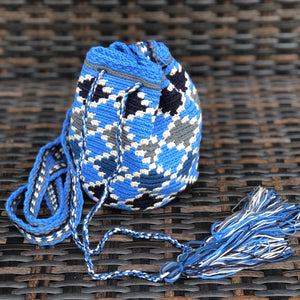 AZULA Mini Crochet Bag - Authentic Wayuu Mochilap Bag -  Style MWPD50