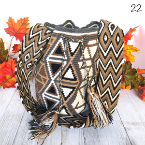 Gray Crochet Bags for Fall | Bohemian Crossbody Bag | Fall Boho Bag