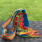 PREMIUM Mini Croche t Bag - Authentic One-thread Wayuu Bag -  Style MWPP17