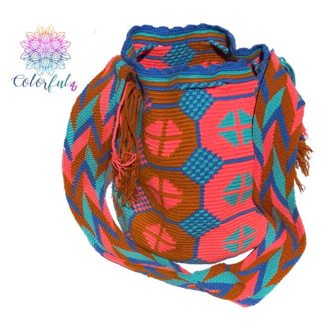 Special Edition Crochet Bag - Colorful Crossbody Boho Bag -  Style MWDE18