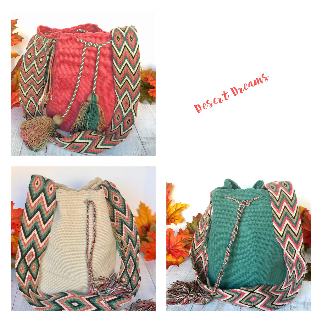 Desert Dreams -Solid Crochet Bags for Fall