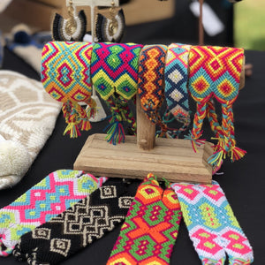 Colorful Handwoven Bracelets - Wayuu wirst bands - Boho Style