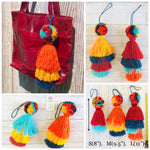 Colorful Tassel Bag Charms | Boho Pompom-Tassel Charms | Purse Charm