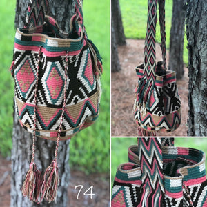 Colorful 4U | Desert Dreams Bag | Crossbody Boho Bags for Fall | Wayuu Mochila | Bohemian Bucket Bag 74 diamonds