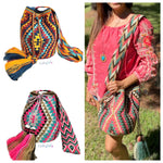 COLORFUL 4U CROCHET BAGS -WAYUU Crossbody BAGS -Boho bag for fall