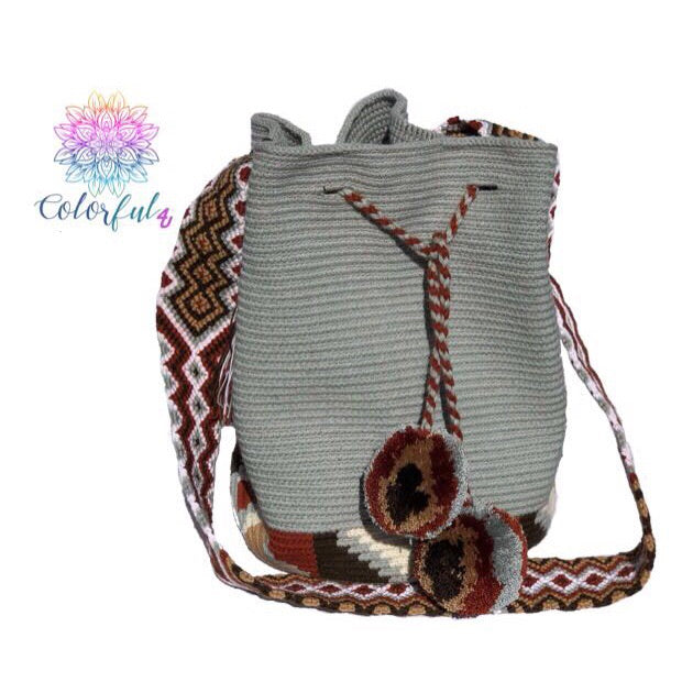 Special Edition Crochet Bag - Colorful Crossbody Boho Bag -  Style MWDE21
