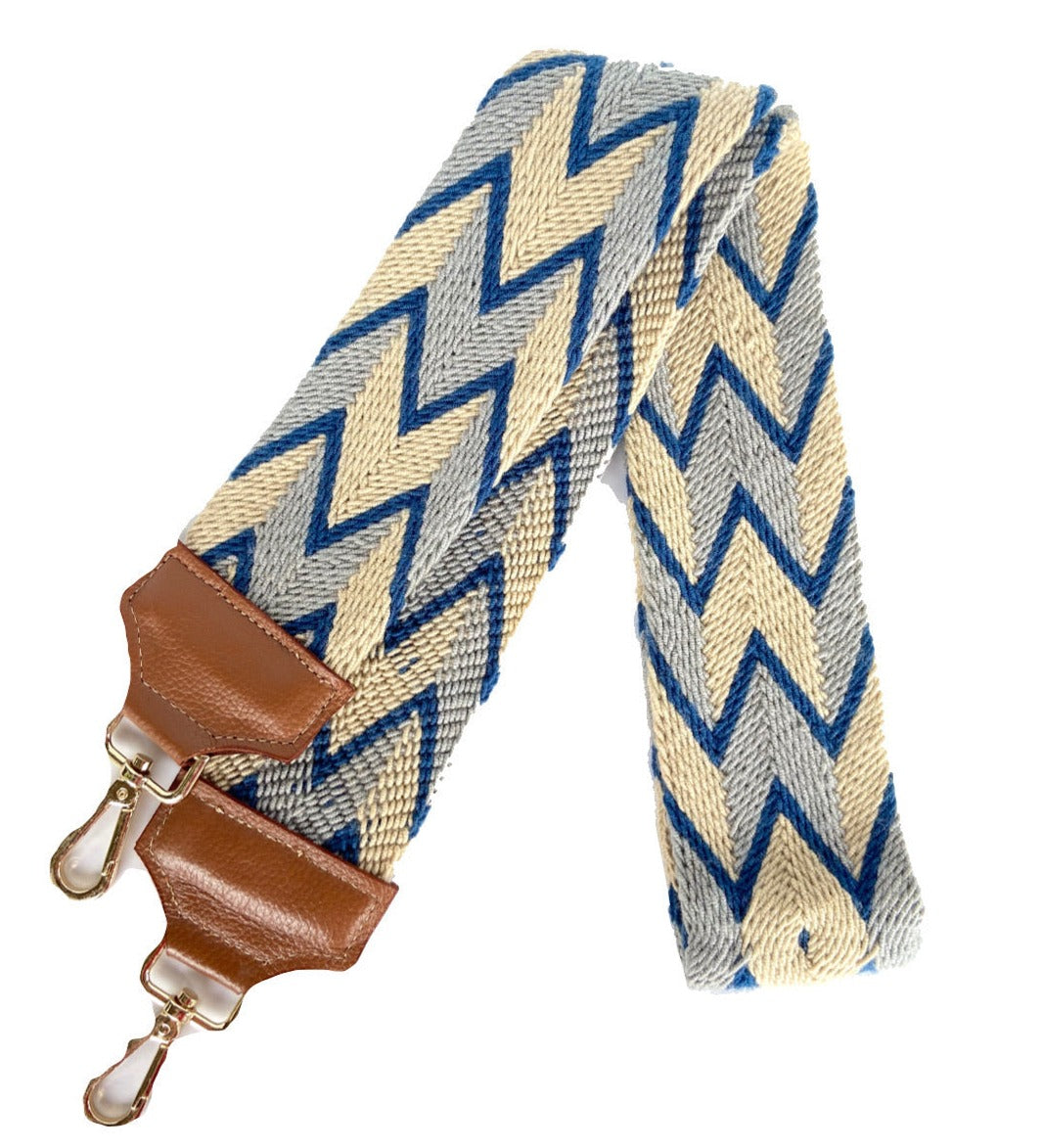 Blue Nude Bag Strap-Camera Strap-Strap Replacement-Woven-leather-straps